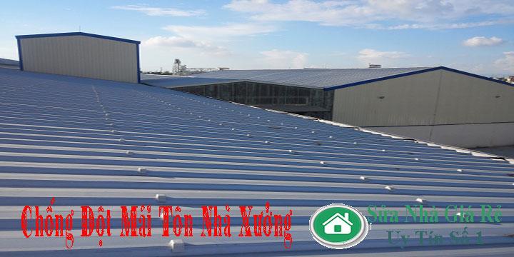 Chuyên nhận chống dột mái tôn nhà xưởng giá rẻ
