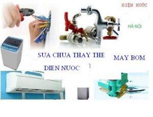 Dịch vụ thợ sửa điện nước tại nhà quận 8
