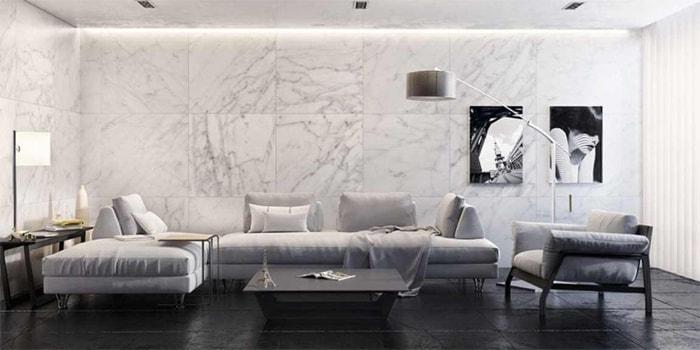 Báo giá gạch ốp lát tường phòng khách