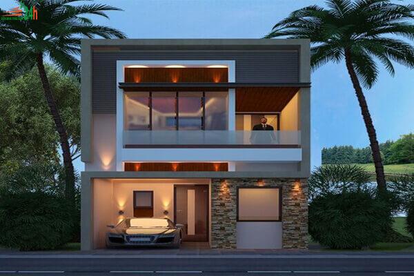 Mẫu nhà phố 2 tầng đơn giản