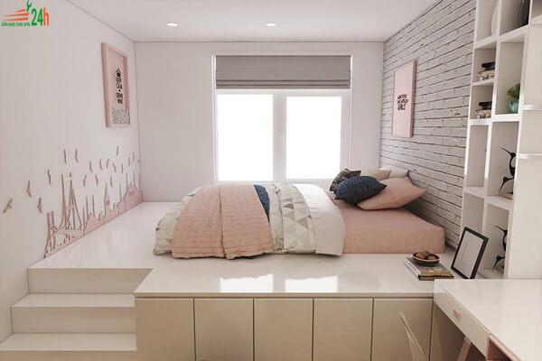Phòng ngủ đơn giản 8m2