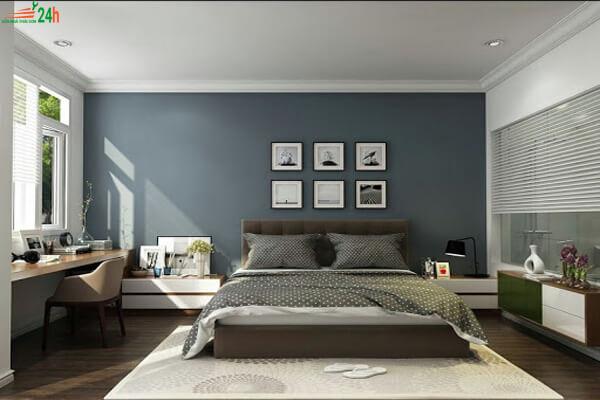Trần thạch cao đơn giản cho phòng ngủ