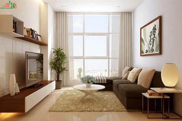 Phòng khách nhỏ hẹp bỗng hóa rộng nhờ cách thiết kế đơn giản