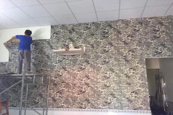 Loại xốp dán tường giả đá